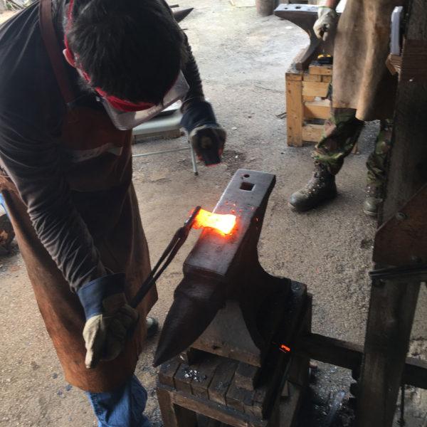 Forging an axe